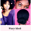 A Sleek Bun, Waves &  Exaggerated Hairline Look